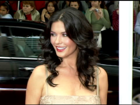 catherine zeta-jones at the 'the legend of zorro' premiere at the orpheum theatre in los angeles, california on october 16, 2005. - orpheum theatre stock videos & royalty-free footage