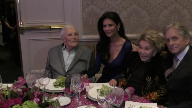 catherine zeta-jones, michael douglas, kirk douglas & anne buydens at the 7th annual legacy of vision gala on november 09, 2017 in beverly hills,... - michael douglas stock videos & royalty-free footage