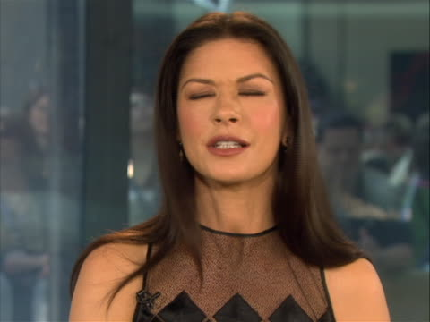 catherine zeta-jones tells the today show's matt lauer of her husbands post-cancer recovery, following his battle with throat cancer, and how she... - matt lauer stock videos & royalty-free footage