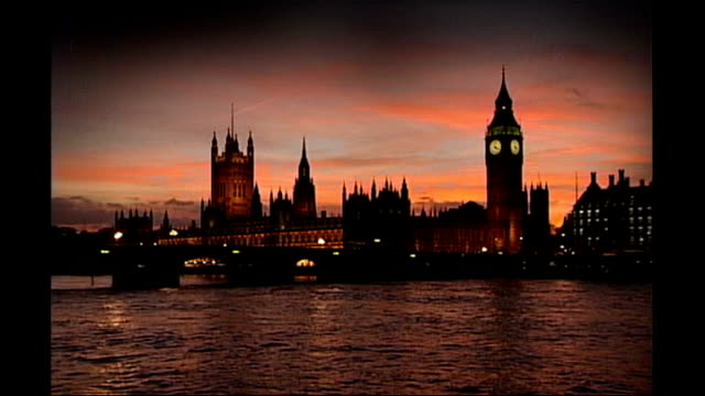 catholic archbishop advises mps to vote against labour embryo bill westminster house of commons river thames pan up houses of parliament and big ben... - house of commons stock videos and b-roll footage