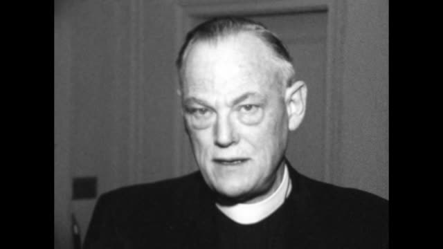vídeos de stock, filmes e b-roll de catholic bishop of nashville name unknown at this time but can be discovered speaks in interview for need to respect rights of all 1960s era he has a... - 1960