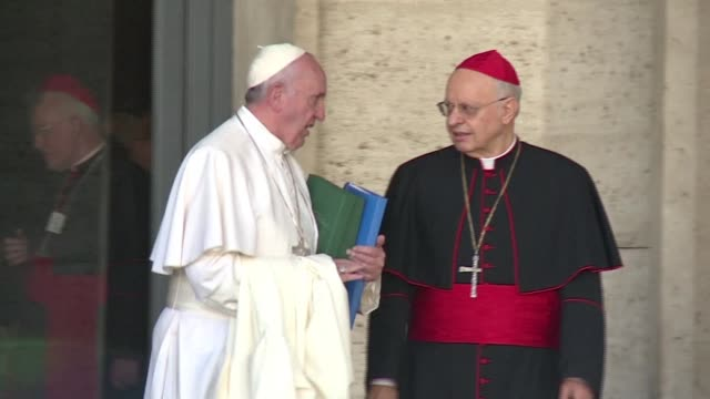 catholic bishops wrap up a synod on the family now it is over to pope francis to decide what may change in the churchs approach to sex love and... - synod stock videos & royalty-free footage