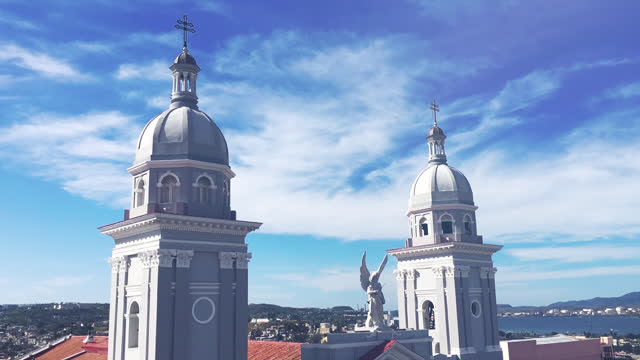 catholic cathedral our lady of assumption, santiago de cuba, cuba - light leak stock videos & royalty-free footage