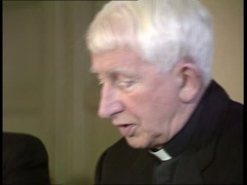 catholic church archbishop's house cms cardinal basil hume pkf sof it wouldn't be good enough for someone to say that i don't want a woman minister... - cardinal clergy stock videos and b-roll footage