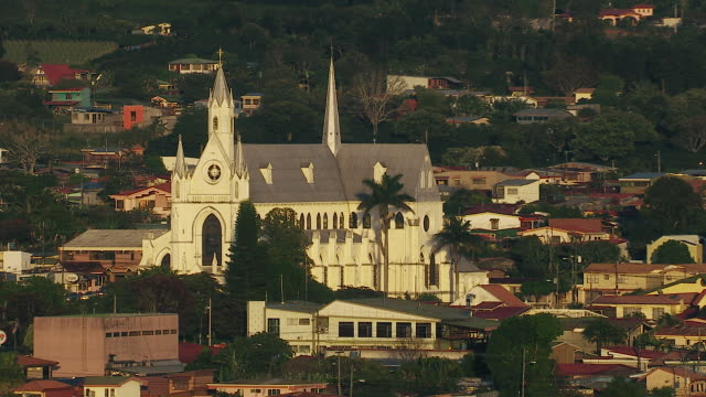 catholic church in san rafael costa rica - costa rica stock videos & royalty-free footage