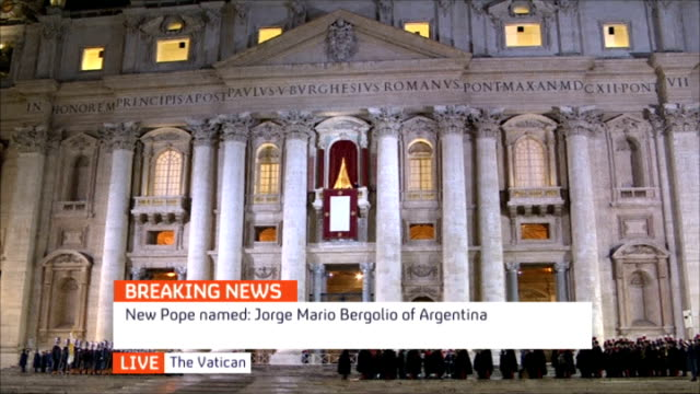 new pope elected pope francis - elezione video stock e b–roll