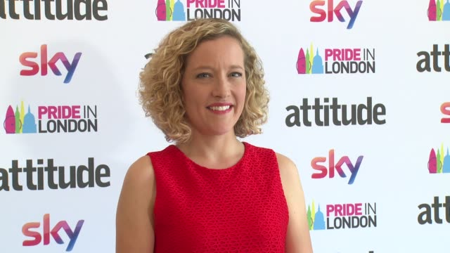 cathy newman on july 07 2017 in london england - cathy newman stock-videos und b-roll-filmmaterial