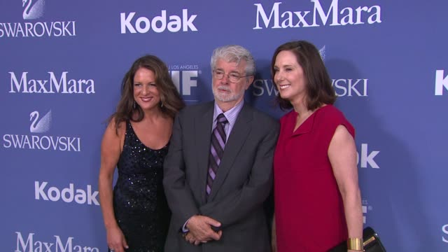 Cathy Schulman George Lucas and Kathleen Kennedy at 2013 Women In Film Crystal Lucy Awards Sponsored By Max Mara Swarovski And Kodak Cathy Schulman...