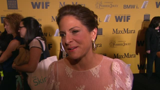 stockvideo's en b-roll-footage met interview cathy schulman on what fun things we can expect from the ceremony why the crystal lucy awards are so important and about the programs wif... - century plaza