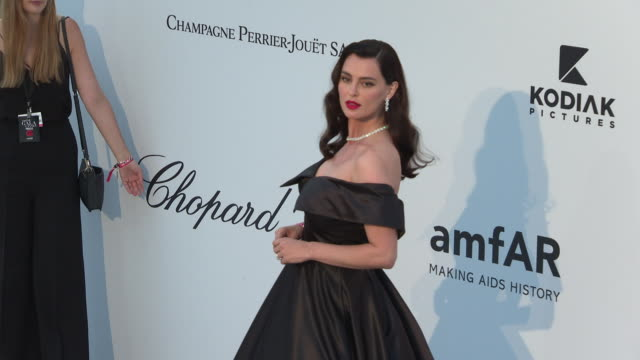 Catrinel Marlon at the amfAR Cannes Gala 2019 Arrivals at Hotel du CapEdenRoc on May 23 2019 in Cap d'Antibes France