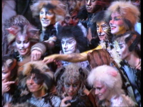 'Cats' long running musical MS Members of cast in costume