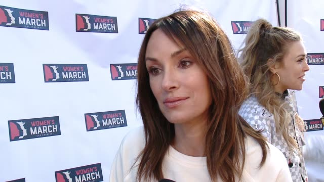 INTERVIEW Catt Sadler at 2018 Women's March Los Angeles on January 20 2018 in Los Angeles California