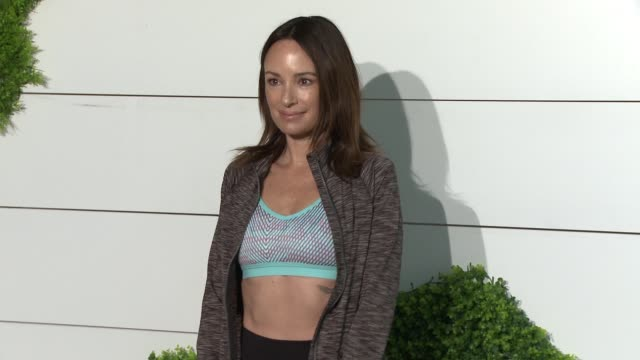 catt sadler at behindthescenes at kohl's x studio tone it up workout event at barker hangar in santa monica ca january 13 2018 - kohls stock videos & royalty-free footage
