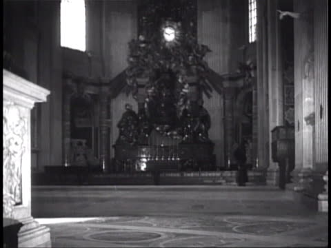 vs cattedra petri elaborate monument by bernini to encase st peter's chair w/ statues of st ambrose st anthanasius st john chrysostom st augustine... - apostle stock videos and b-roll footage