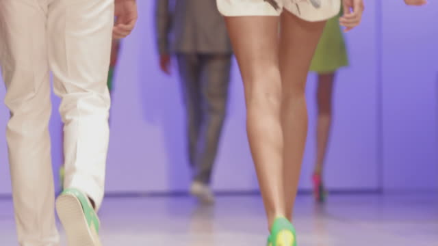 catwalk show - dress shoe stock videos and b-roll footage