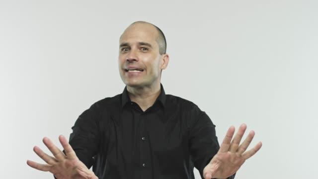 caucasian adult salesman dealing - spokesman stock videos & royalty-free footage