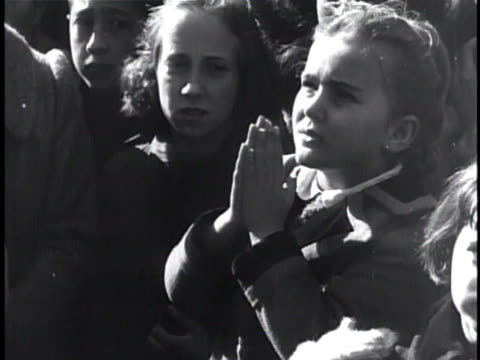 caucasian children standing together outside, female girl crossing herself & folding hands up in prayer. catholic, episcopal, sign of the cross,... - religious symbol stock videos & royalty-free footage