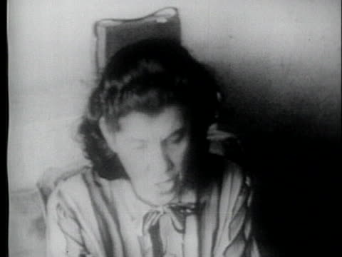 caucsian woman discusses her constitutional rights in sending her daughter to an integrated school. - 1954 stock videos & royalty-free footage