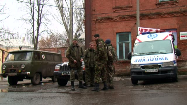 Caught on the frontline of fighting between pro government forces and separatists in eastern Ukraine a small hospital in the town of Artemivsk has...