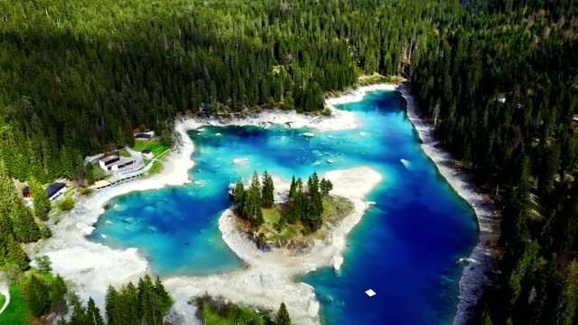 caumasee lake in switzerland - switzerland stock videos & royalty-free footage
