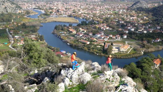 caunous anciet city from dalyan. mugla / turkey. - dalyan stock videos and b-roll footage
