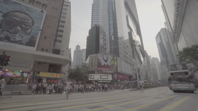 causeway bay, hong kong - stabilized shot stock videos & royalty-free footage