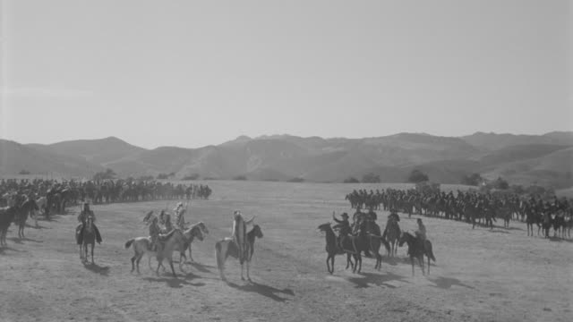 ws cavalry and indians troop on battle field - indigenous north american culture stock videos and b-roll footage