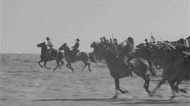 ws pov cavalry attacking in battle - civil war stock videos & royalty-free footage
