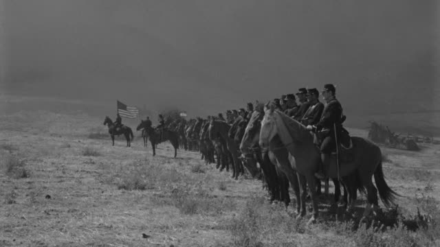 ws cavalry lined up to attack in battle - cavalry stock videos & royalty-free footage