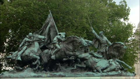 ms, cavalry statue, washington dc, usa - male likeness stock videos & royalty-free footage