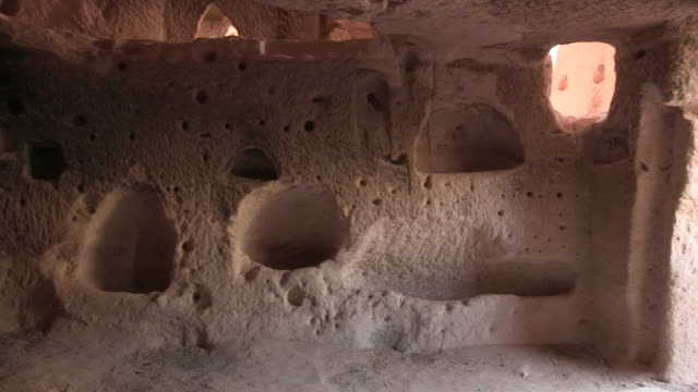 cave house interior, cappadocia, turkey - anatolia stock videos and b-roll footage