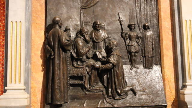 cave of saint ignatius from loyola - pope stock videos and b-roll footage