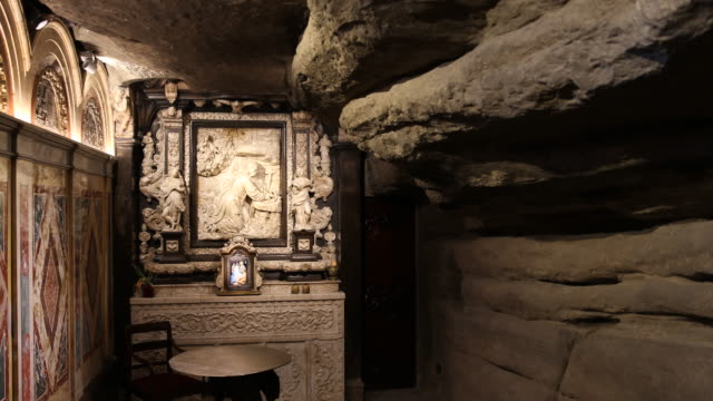 cave of saint ignatius from loyola - jesuit stock videos and b-roll footage