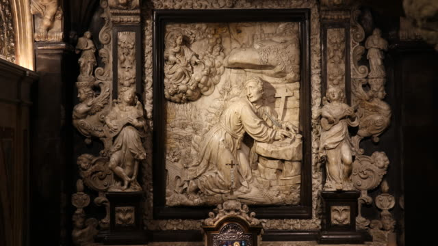 cave of saint ignatius from loyola - male likeness stock videos & royalty-free footage