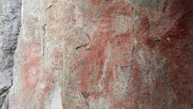 cave paiting, patagonia - prehistoric art stock videos & royalty-free footage