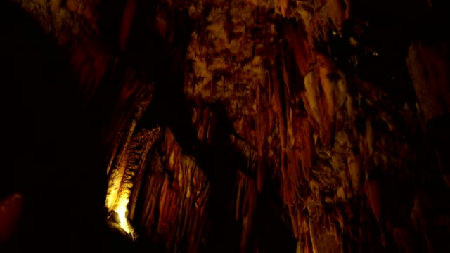 cave stalactites and stalagmites - stalagmite stock videos and b-roll footage