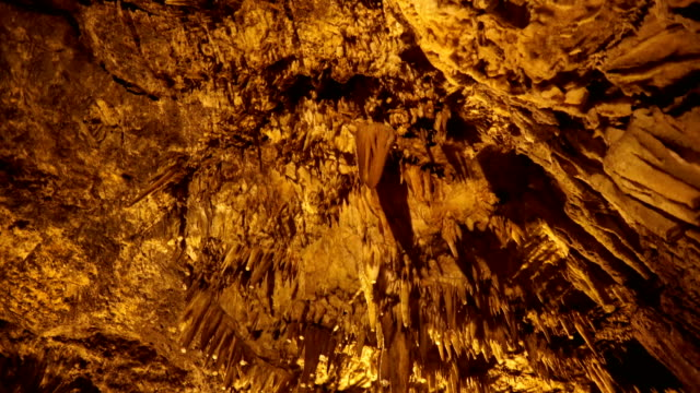 cave stalactites - cave stock videos and b-roll footage