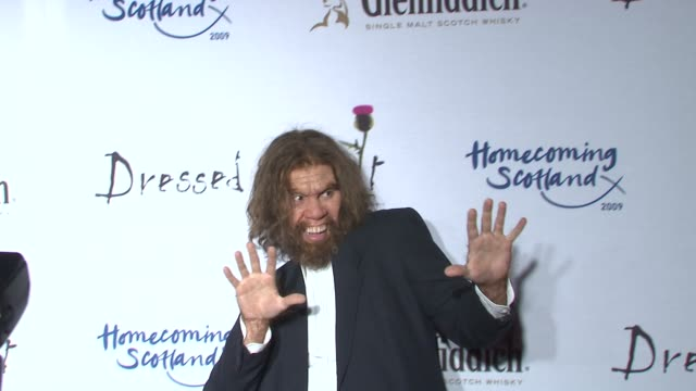 caveman at the 7th annual 'dressed to kilt' charity fashion show at new york ny - dressed to kilt stock videos & royalty-free footage