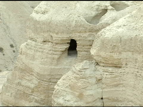 caves where dead sea scrolls were discovered - antiquities stock videos & royalty-free footage