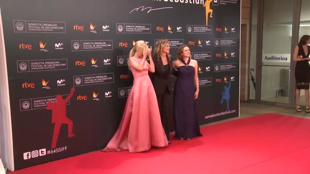 cayetana guillen cuervo emma cuesta mireia gabilondo attend 'la fille de brest' premiere during 64th san sebastian film festival at kursaal on... - fille de stock videos & royalty-free footage