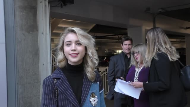 caylee cowan talks about her latest movie outside arclight cinemas in hollywood in celebrity sightings in los angeles, - arclight cinemas hollywood stock videos & royalty-free footage