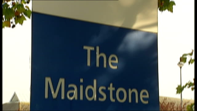 chairman of maidstone and tunbridge wells nhs trust resigns maidstone hospital ext maidstone hospital sign cars parked in front of hospital - maidstone hospital stock videos and b-roll footage