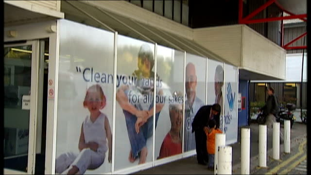 chairman of maidstone and tunbridge wells nhs trust resigns maidstone hospital exterior of hospital with sign across windows reading 'clean your... - maidstone hospital stock videos and b-roll footage