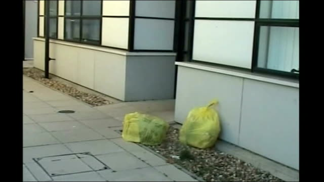former hospital chief wins 190000 pounds in damages lib maidstone hospital amateur video bags of clinical waste left outside hospital building - maidstone hospital stock videos and b-roll footage