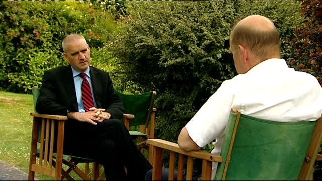 former hospital chief wins 190000 pounds in damages england kent maidstone ext tony charlton being interviewed tony charlton interview sot - maidstone hospital stock videos and b-roll footage
