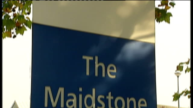 cdifficile outbreak in maidstone and tunbridge wells hospitals 90 lose their lives ext sign outside maidstone hospital sign outside kent and sussex... - maidstone hospital stock videos and b-roll footage