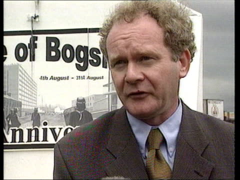 ceasefire: ruc chief constable speaks out; itn ext martin mcguinness mp interview sot - we accept that the ira cessation is intact, they have said so... - ceasefire stock videos & royalty-free footage