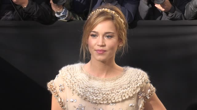Cecile Cassel Laura Smet Ines de la Fressange Clemence Poesy Alice Dellal Matilda Lutz and more arriving for the Chanel Ready to Wear Spring Summer...