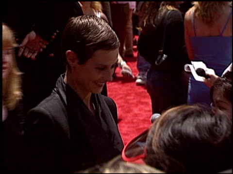 cecile de france at the 'around the world in 80 days' premiere at the el capitan theatre in hollywood, california on june 16, 2004. - el capitan theatre stock videos & royalty-free footage