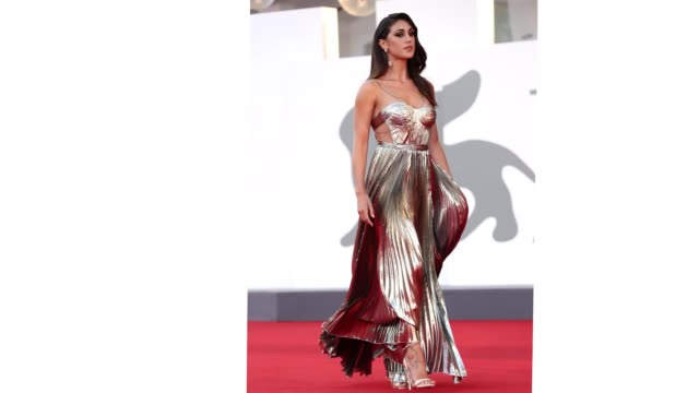venice italy september 04 cecilia rodriguez walks the red carpet ahead of the movie padrenostro at the 77th venice film festival at on september 04... - gif stock videos & royalty-free footage